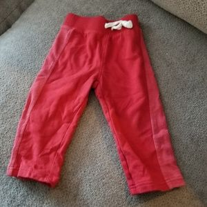 Boys red old navy joggers